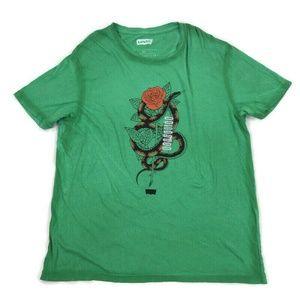Levis Mens Graphic T-Shirt Rose Snake Green XL